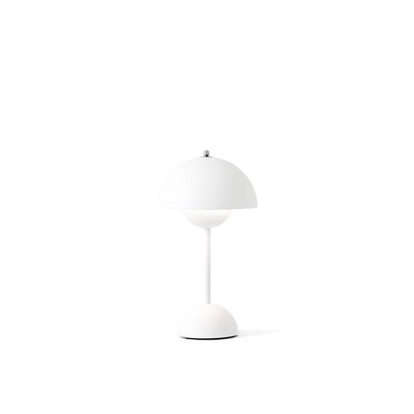 &Tradition Flowerpot VP9 Bordlampe Transportabel Mat Hvid
