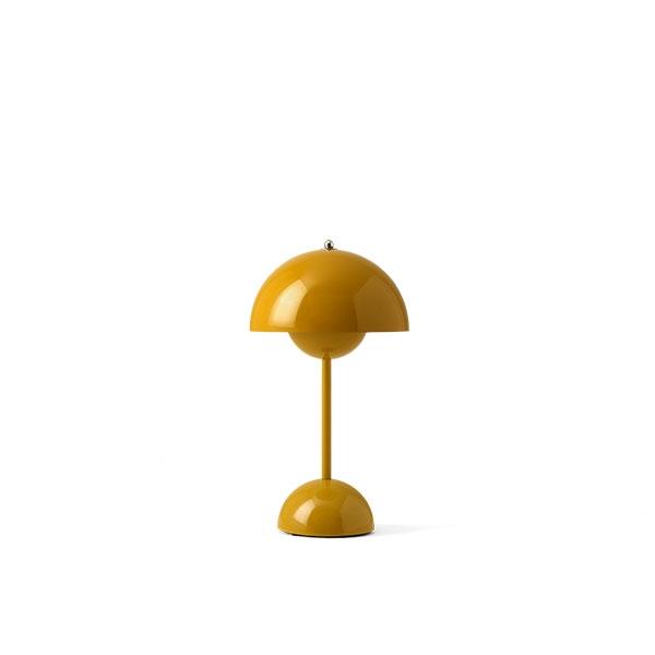 &Tradition Flowerpot VP9 Bordlampe Transportabel Sennepsgul
