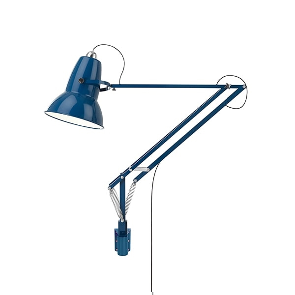 Anglepoise Original 1227 Giant Lampe M. Vægbeslag Marine Blue fra Anglepoise
