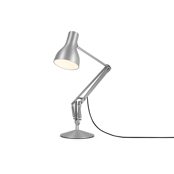 Image of Anglepoise Type 75 Bordlampe Silver Lustre
