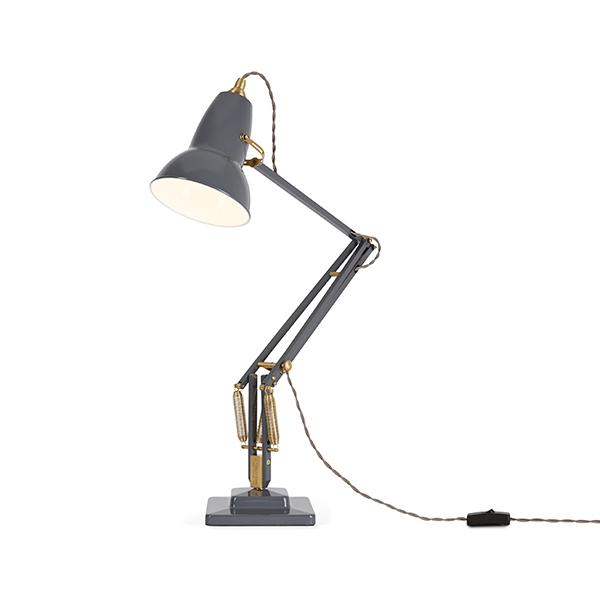 Image of   Anglepoise Original 1227 Messing Bordlampe Elephant Grey