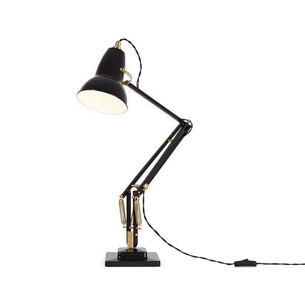 Image of Anglepoise Original 1227 Messing Bordlampe Jet Black