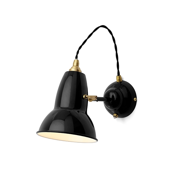 Image of   Anglepoise Original 1227 Messing Væglampe Jet Black