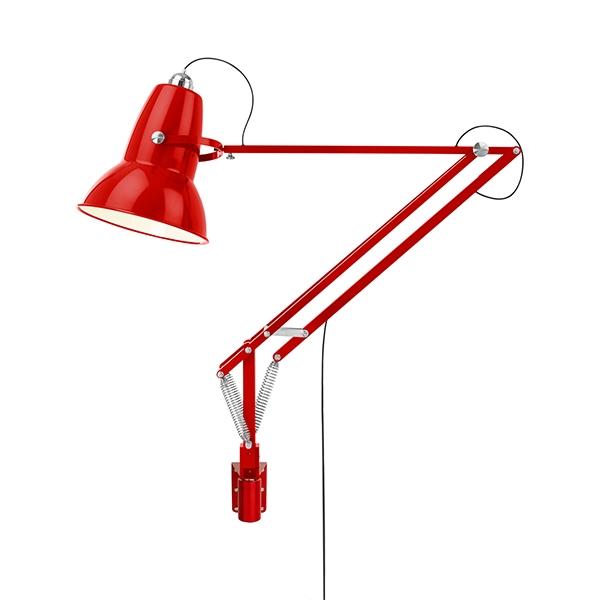 Image of Anglepoise Original 1227 Giant Udendørs Lampe M. Vægbeslag Crimson Red