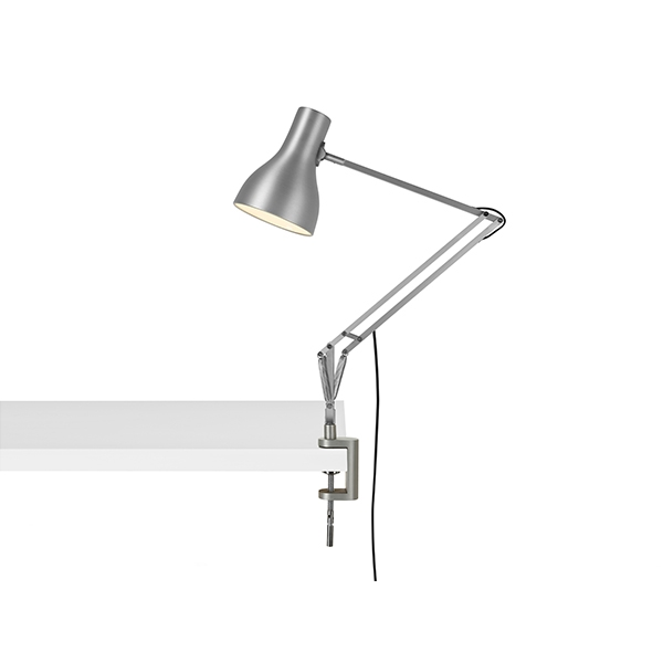 Image of Anglepoise Type 75 Lampe M. Klemme Silver Lustre