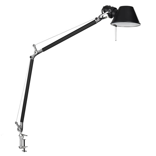 Image of Artemide Tolomeo Bordlampe Sort med klemme