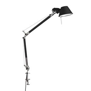 Artemide Tolomeo Mini Bordlampe Sort med klemme