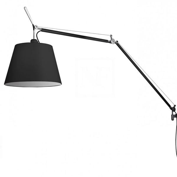 Billede af Artemide Tolomeo Mega Væglampe Sort/Sort Skærm 32cm m. Lysdæmper