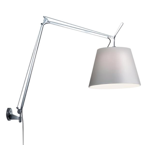 Billede af Artemide Tolomeo Mega Væglampe Sort/Satin