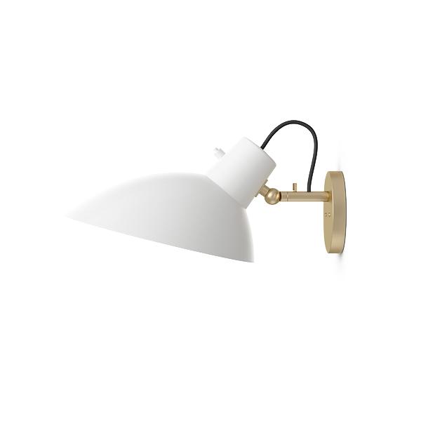 Image of Astep VV cinquanta Væglampe Messing/Hvid M. switch