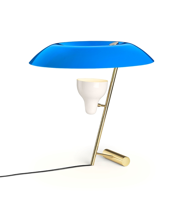 Image of   Astep Model 548 Bordlampe Messing/Blå