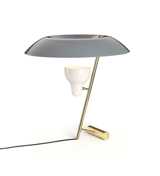 Image of   Astep Model 548 Bordlampe Messing/Grå