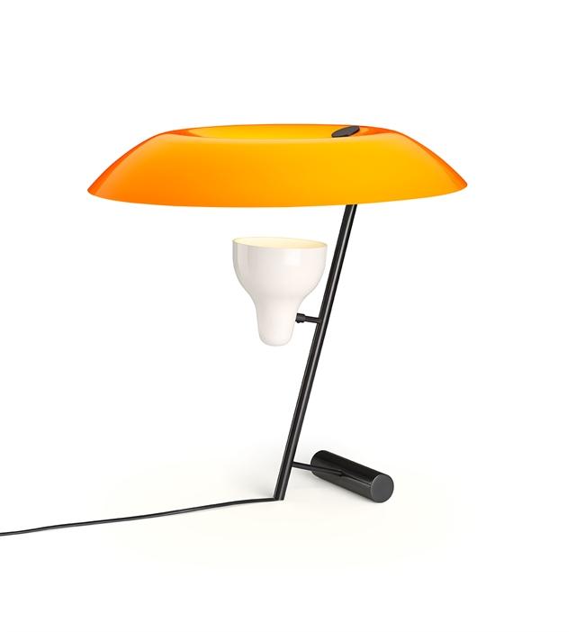 Image of   Astep Model 548 Bordlampe Mørk Messing/Orange