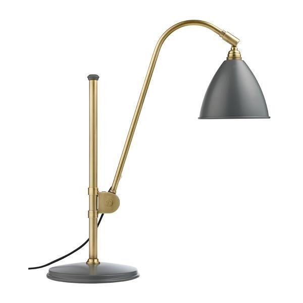 Billede af Bestlite BL1 Bordlampe Grå & Messing