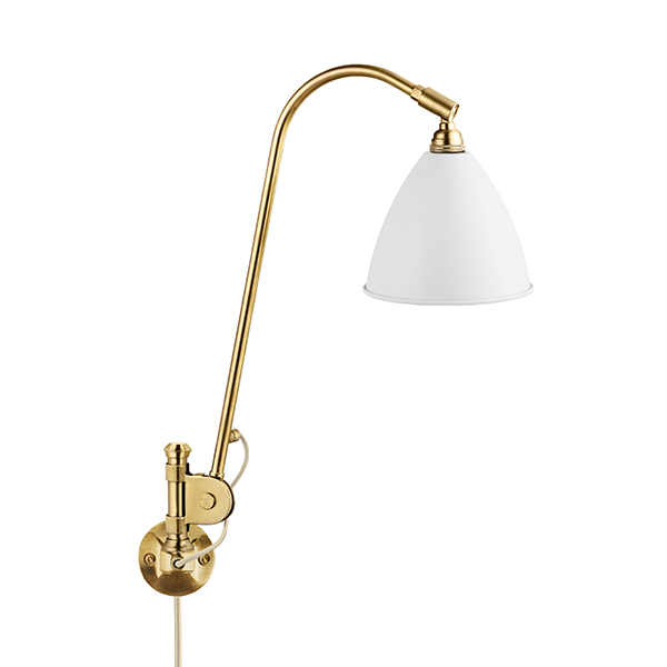 Bestlite BL6 Væglampe Mat Hvid & Messing