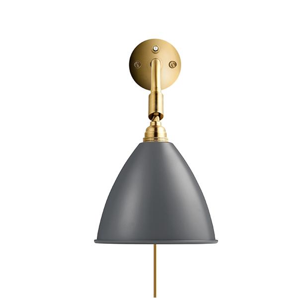 Bestlite BL7 Væglampe Grå & Messing