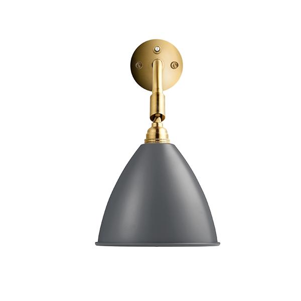 Bestlite BL7 Væglampe Grå & Messing Hardwired