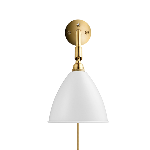 Bestlite BL7 Væglampe Mat Hvid & Messing