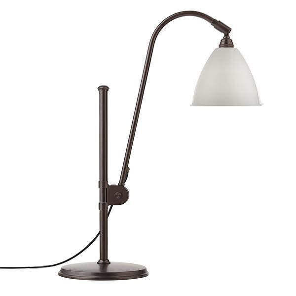 Billede af Bestlite BL1 Bordlampe Sort Messing & Hvid