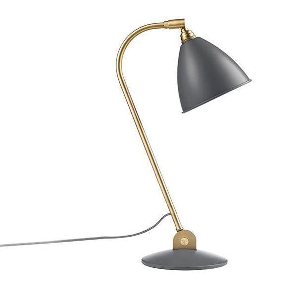 Billede af Bestlite BL2 Bordlampe Grå & Messing