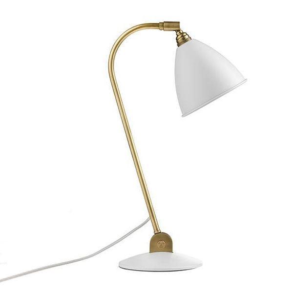 Billede af Bestlite BL2 Bordlampe Mat Hvid & Messing