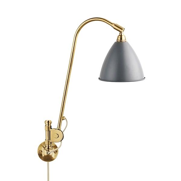 Billede af Bestlite BL6 Væglampe Grå & Messing