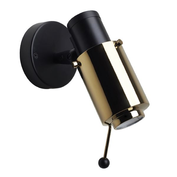 Image of Biny Spot Væglampe Sort & Guld