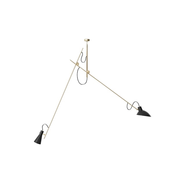 Image of Astep VV Cinquanta Loftlampe Suspension Messing/Sort