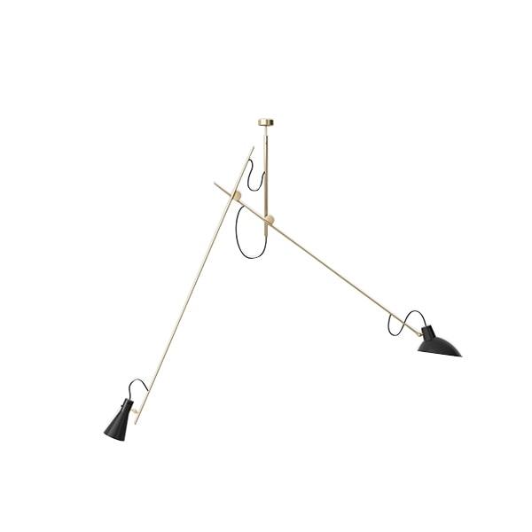 Astep VV Cinquanta Loftlampe Suspension Messing/Sort fra Astep