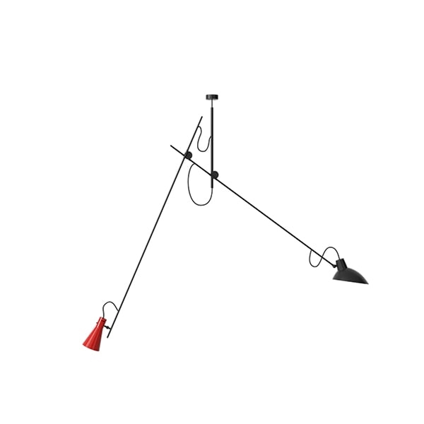 Image of Astep VV Cinquanta Loftlampe Suspension Sort/Rød