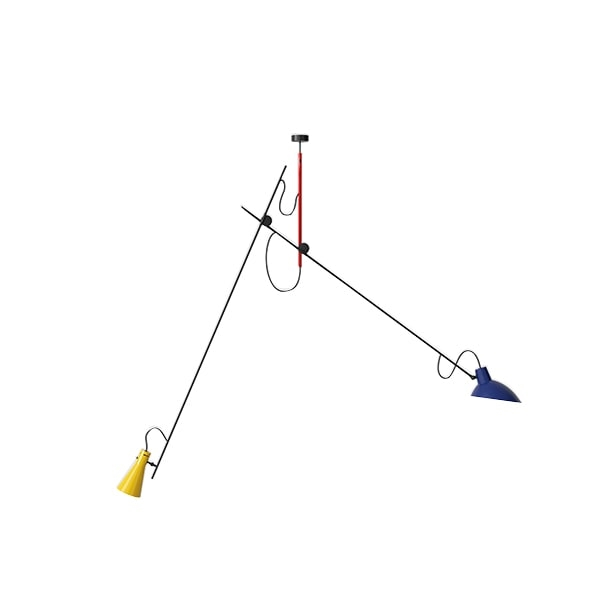 Image of Astep VV Cinquanta Loftlampe Suspension Mondrian/Blå/Gul