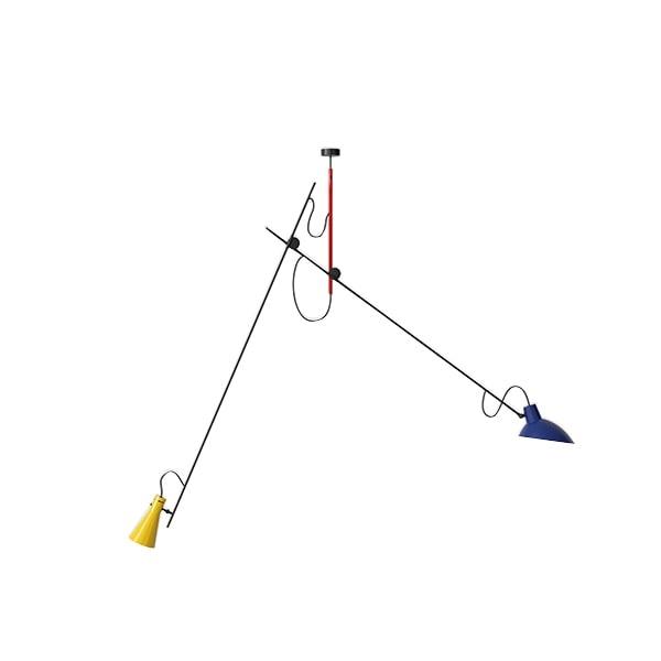Astep VV Cinquanta Loftlampe Suspension Mondrian/Blå/Gul fra Astep