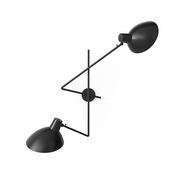 Image of   Astep VV Cinquanta Væglampe Twin Sort/Sort