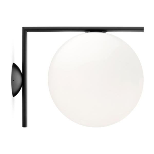 Flos IC C/W 2 Væglampe Mat Sort