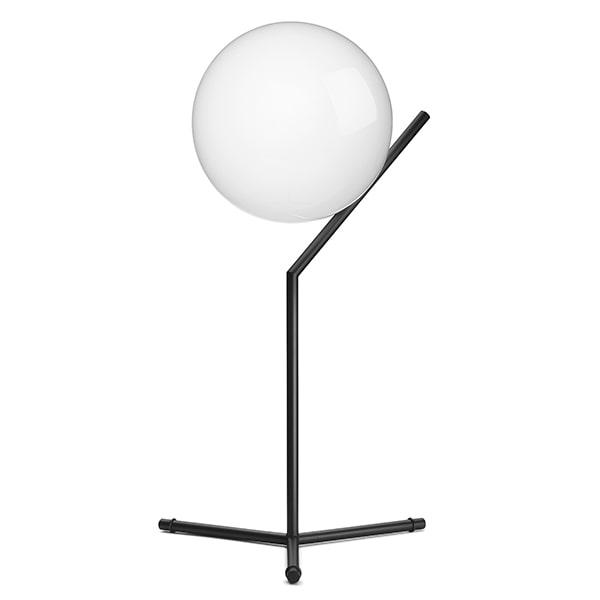 Flos IC T1 Høj Bordlampe Mat Sort