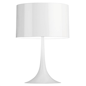 Flos Spun Light T2 Bordlampe Hvid
