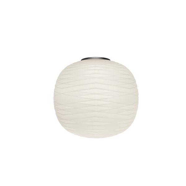 Foscarini Gem Semi MyLight Væglampe Grafit/ Hvid