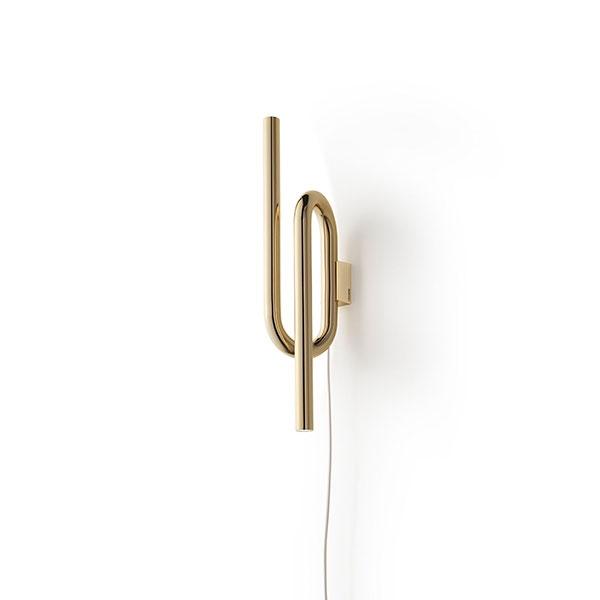 Køb Foscarini Tobia Væglampe Guld M. Ledning