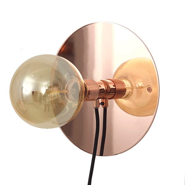 FRAMA E27 Væglampe Kobber Mellem