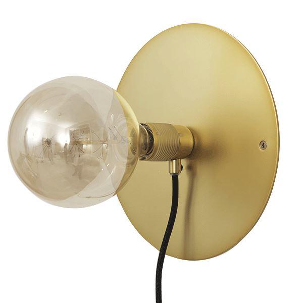 FRAMA E27 Væglampe Messing Mellem