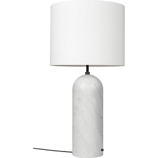 GUBI Gravity Gulvlampe Hvid Marmor og Hvid Skærm XL Lav