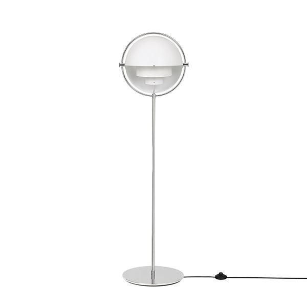 GUBI Multi-Lite Gulvlampe Krom & Hvid