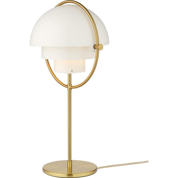 Billede af GUBI Multi-Lite Bordlampe Messing & Hvid