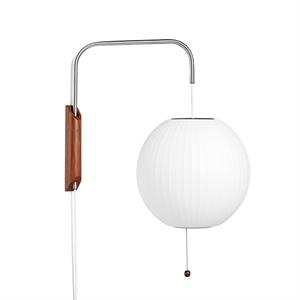 HAY Nelson Ball Væglampe Lille Hvid M. Ledning