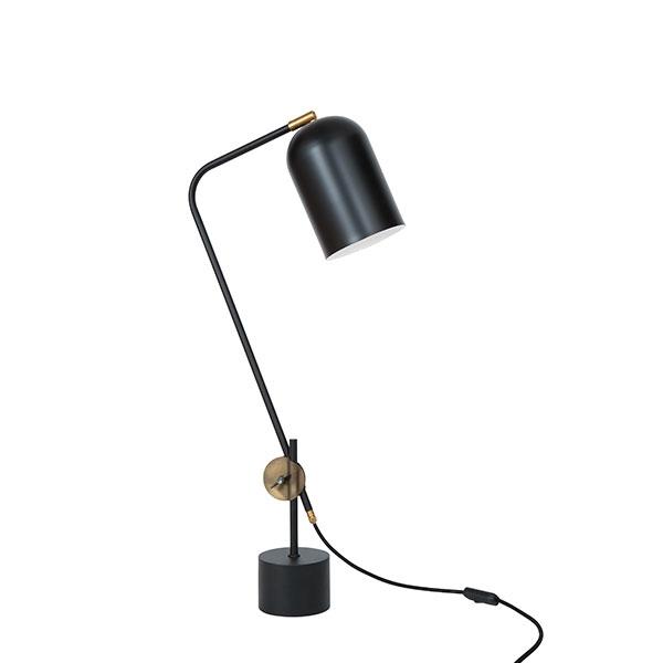 Billede af Konsthantverk Knekt Bordlampe - Mat Sort & Rå Messing