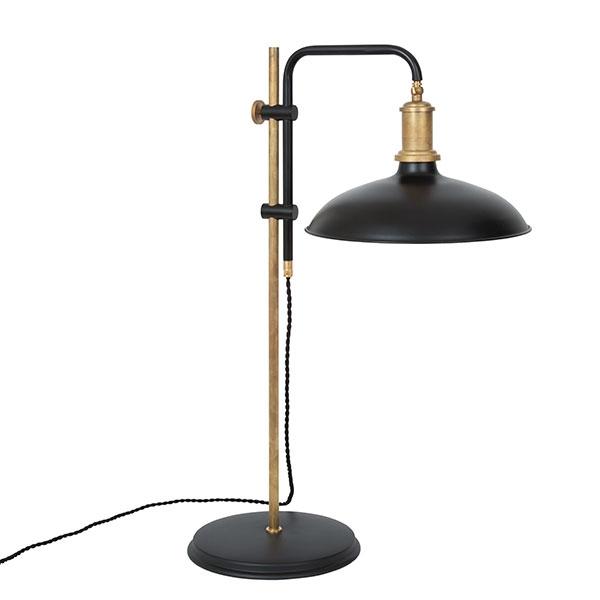 Konsthantverk Kavaljer Bordlampe – Mat sort & Rå Messing fra Konsthandverk