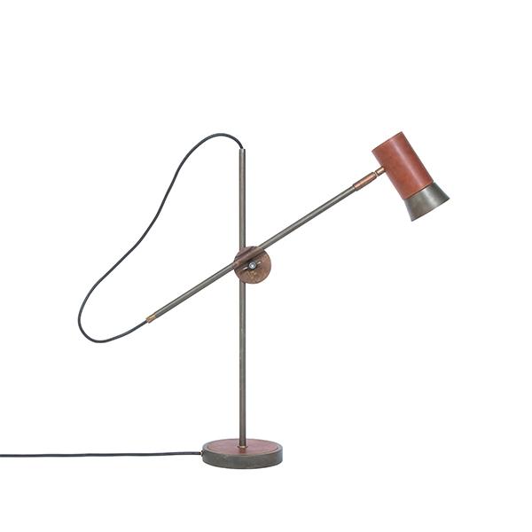 Konsthantverk Kusk Bordlampe - Jernoxid & Læder
