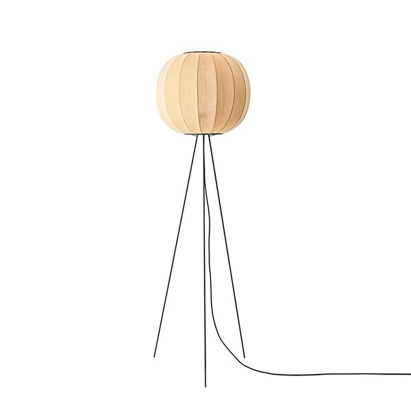 Made By Hand Knit-Wit Round Gulvlampe ø45 Høj Gul