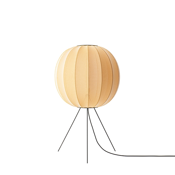 Made By Hand Knit-Wit Round Gulvlampe Gul Medium ø60