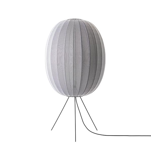 Made By Hand Knit-Wit Round Gulvlampe Ø65 Medium Sølv fra Made By Hand